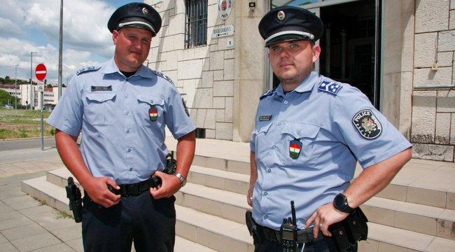 Igazi hősök: Fél óra alattkét életet mentettek meg a pécsi zsaruk