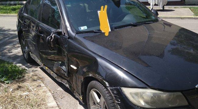 Most jött: Felvágta az ereit, autóba ült, és úgy okozott balesetet egy budapesti BMW-s - vérző karral menekült el a helyszínről - Fotók