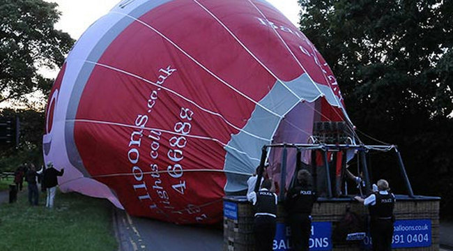 Forgalmi dugót okozott a légballon