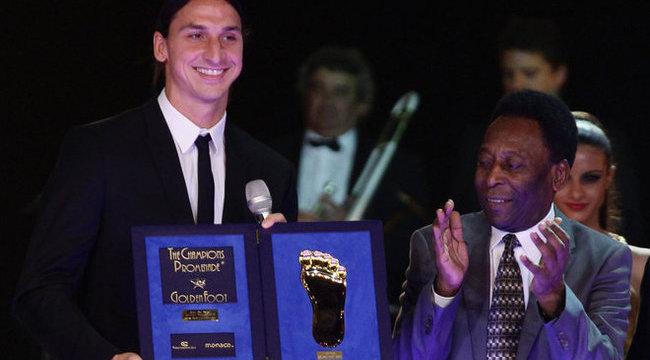 Elájultak csapattársai Ibrahimovics díjától