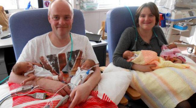 Orvosi csoda: két egypetéjű ikre született
