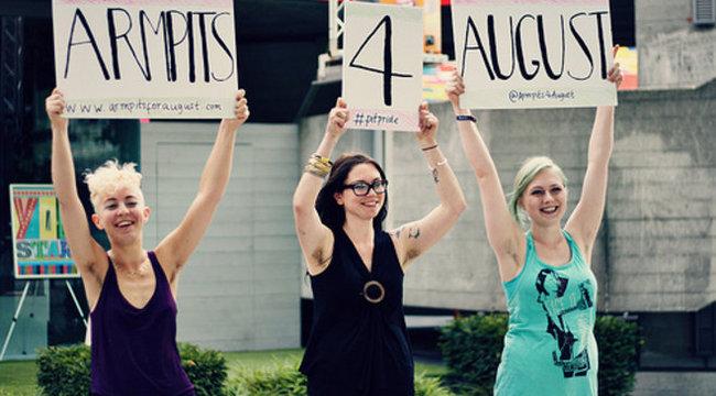 Hónaljkutyával tiltakoznak a szőrtelenítés ellen