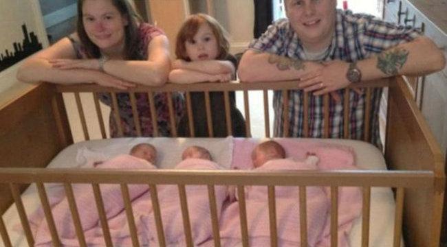 Szüleik sem tudják megkülönböztetni a hármasikreket