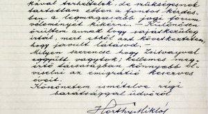 600 000 forintról indul Horthy Miklós levele