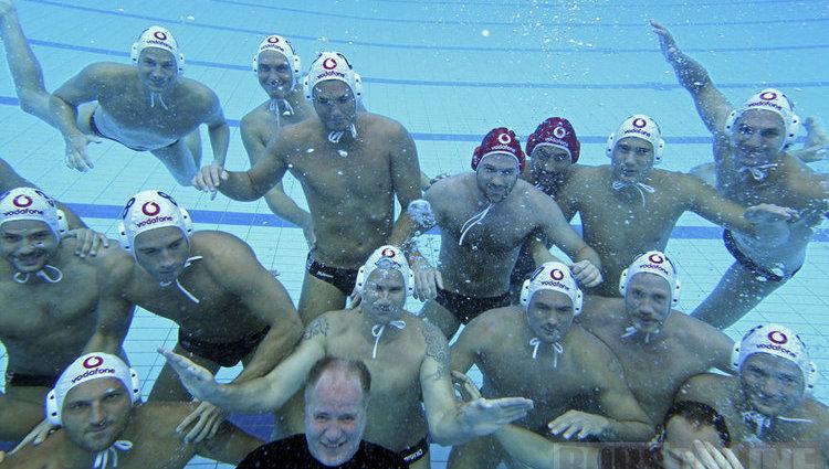 Pólósaink víz alatt és víz felett