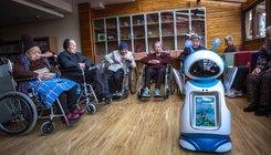 Robotok egy születésnapi zsúron Kínában