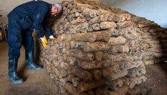 15000 db. I. Világháborús gránát egy észak Macedon építkezésen